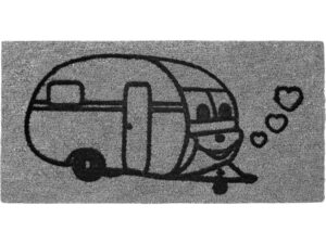 Dørmåtte med Campingvogn motiv